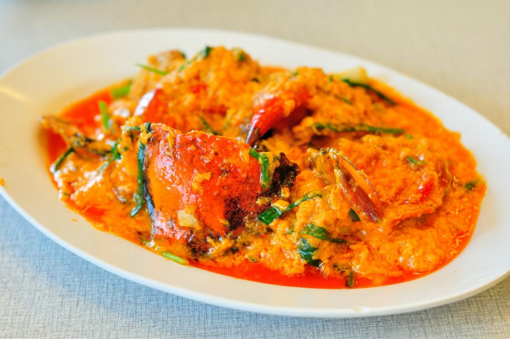 咖哩炒蟹ปูผักผงกระหรี่