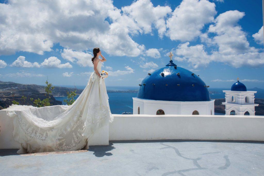 藍頂教堂裡的婚禮
