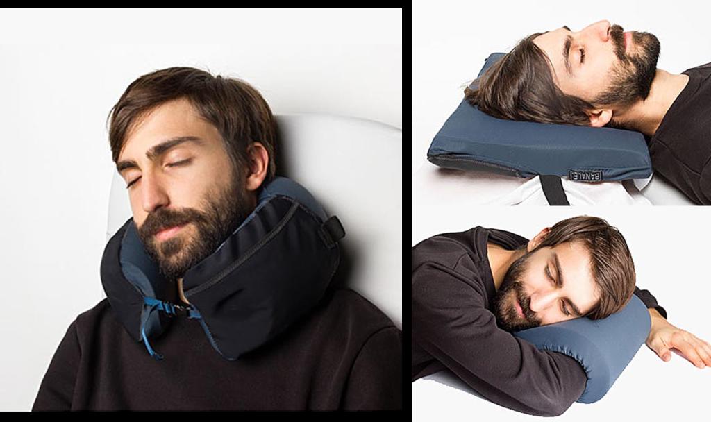 三用時尚旅枕