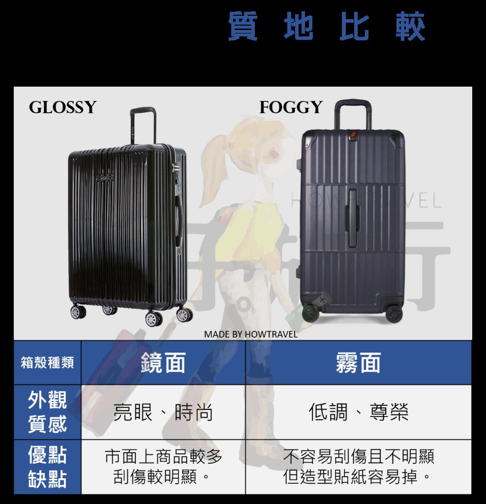 行李箱質地比較表