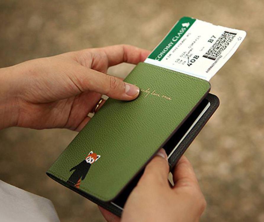 清新可愛小動物護照套