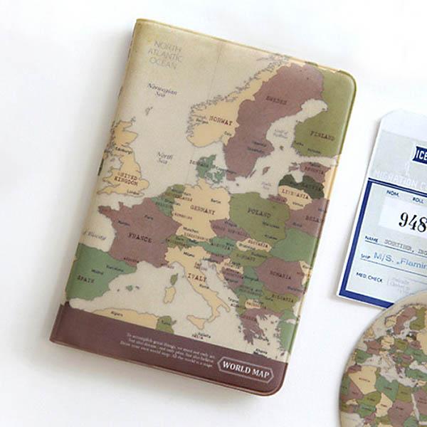 文青地圖護照套