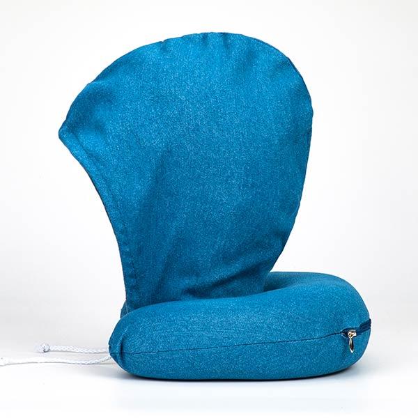 丹寧附帽護頸枕