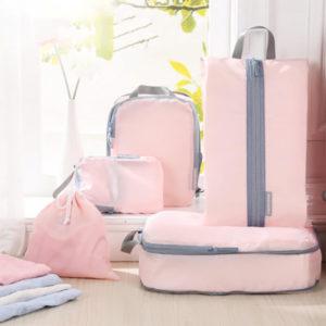推薦旅行收納袋-『HOW強』衣服收納壓縮袋五件組