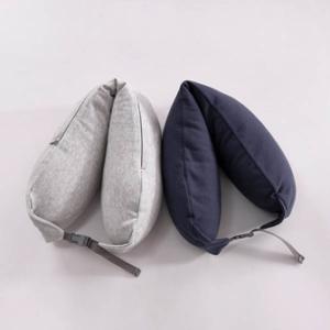 U型枕推薦_日本無印風連帽頸枕