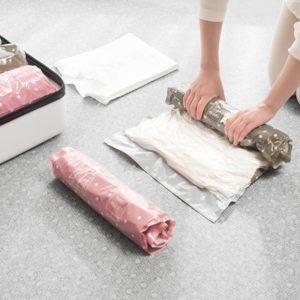 推薦旅行收納袋-手卷式真空壓縮袋收納包