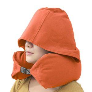 【加大加厚】無印風連帽U型枕|遮光效果好護脖頸枕
