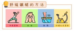 舒緩鐵腿的方法