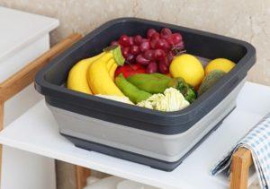 多功能摺疊收納籃|食品級PP材質
